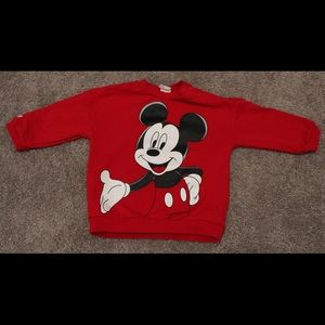 Brand New Red Mickey Sweater